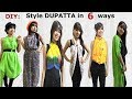 DIY: Style Dupatta/scarves in 6 Different Ways   Stylish top, shrug, kimono