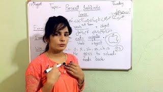 Present Indefinite Tense with example in Urdu/Hindi # English Grammar