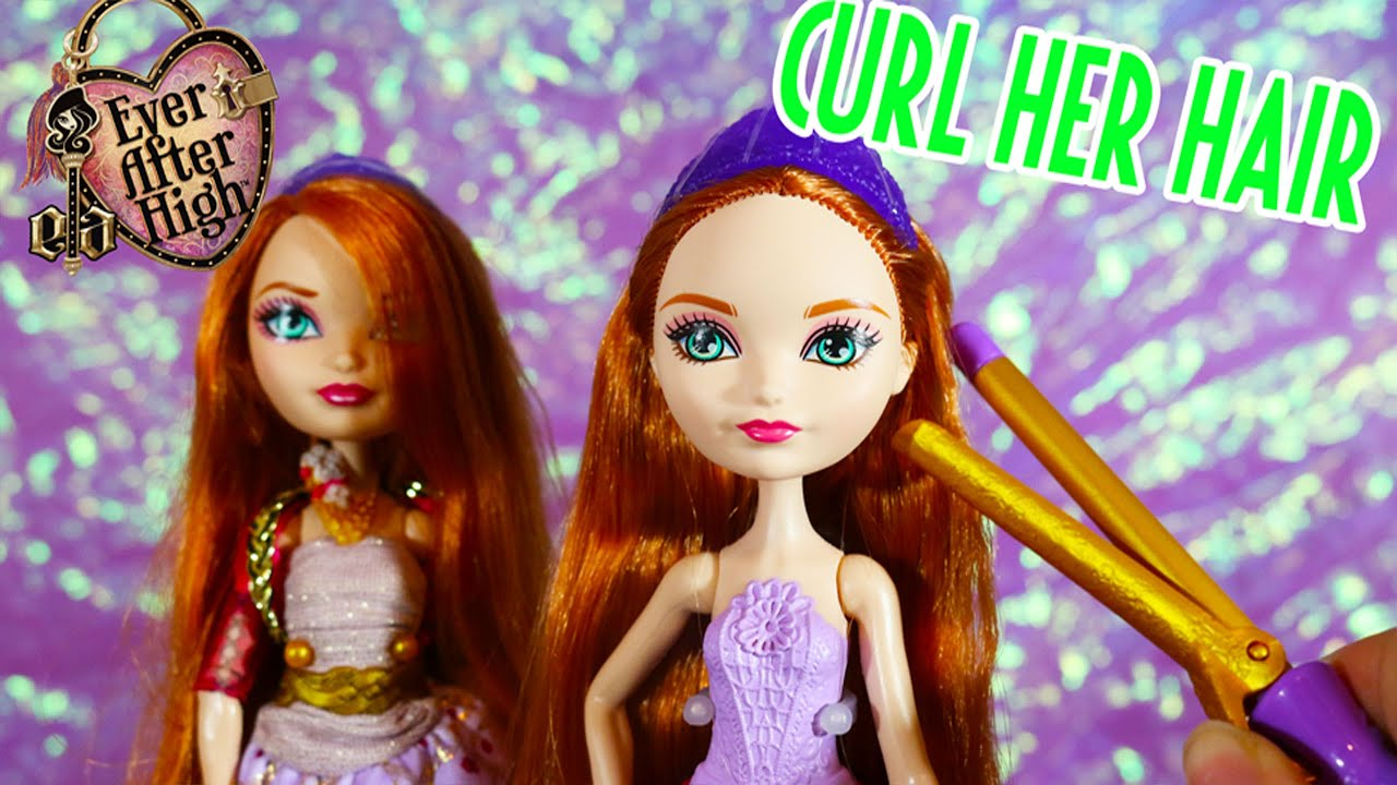 Styling Doll Hair Ever After High Holly O'hair Hair Style Doll  Youtube