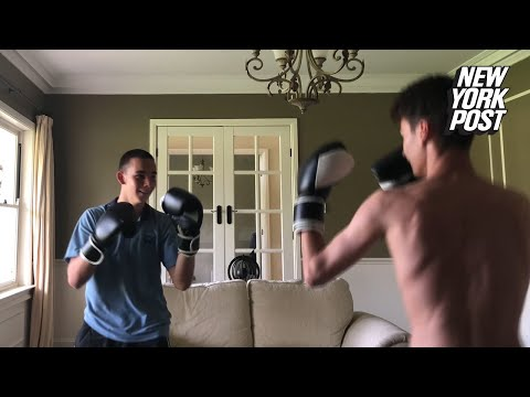 The JV Show - Kid Gets Smashed Through Window Boxing at Home