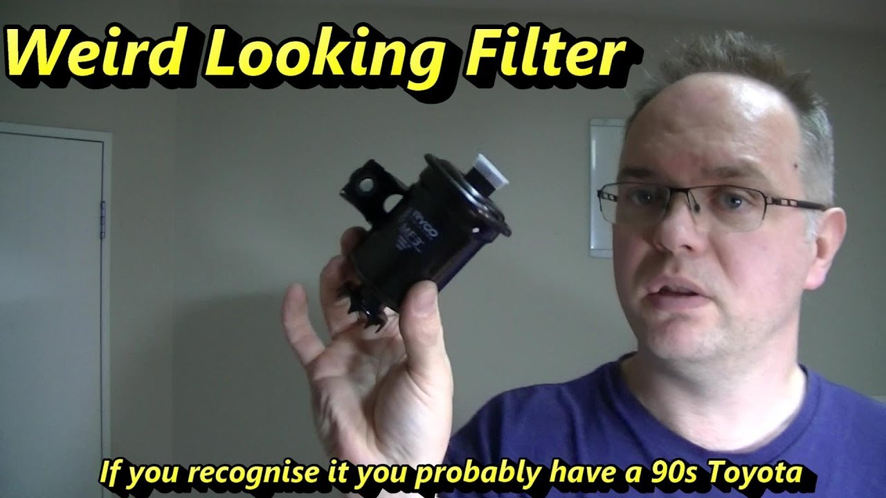 toyota corolla fuel filter change 5a fe [ 1280 x 720 Pixel ]