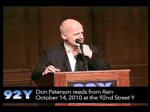 Don Paterson reads from Rain at the 92nd Street Y