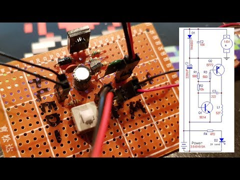 Building the Power Supply for the Rotating Cross LED dot matrix DIY Kit