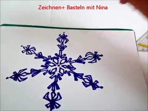 Schneeflocke Einfach Zeichnen Weihnachtskarten Selber Malen