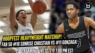 National Heavyweights Meet in ELITE Matchup!! Gonzaga vs Sunrise Christian!