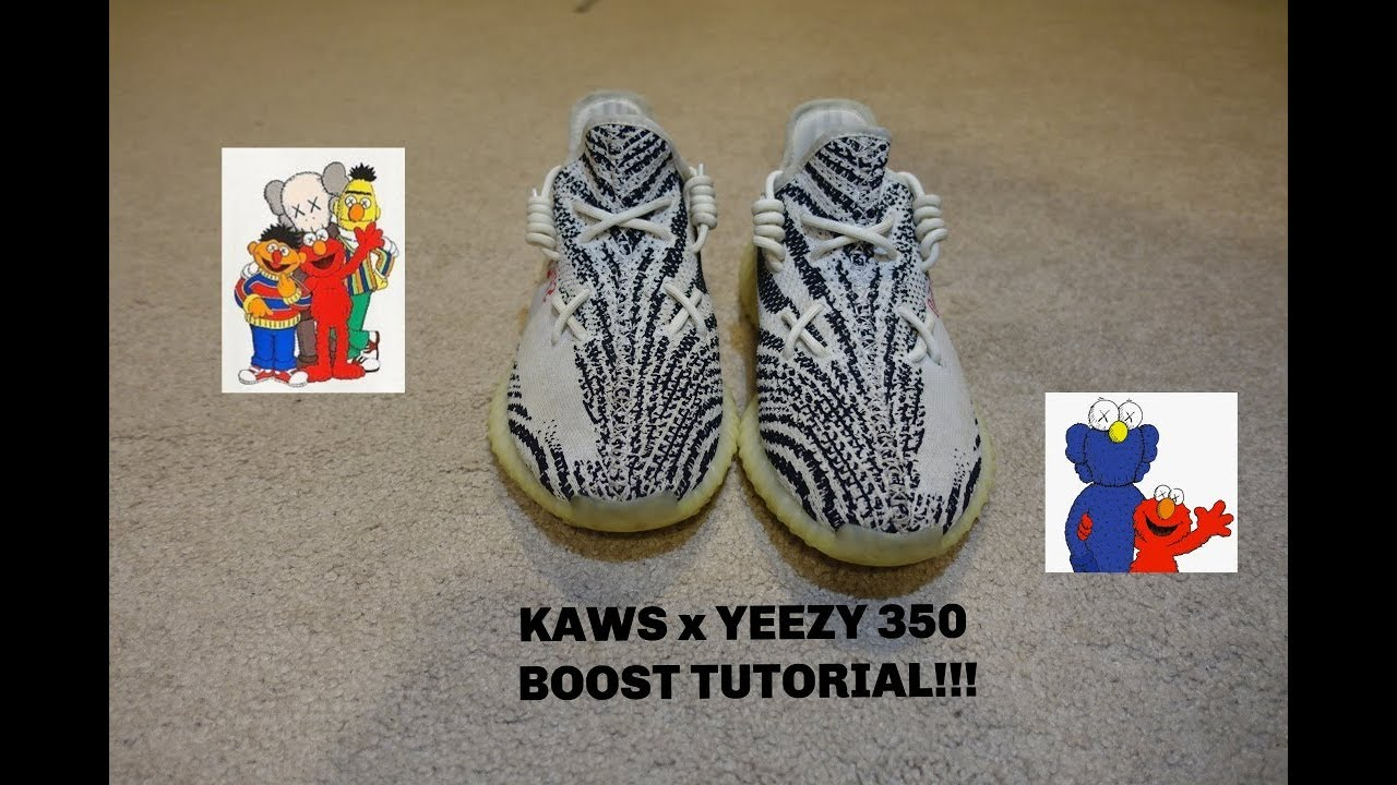 reputable site 9de7d d0daf KAWS x YEEZY 350 BOOST LACING STYLE *TUTORIAL*
