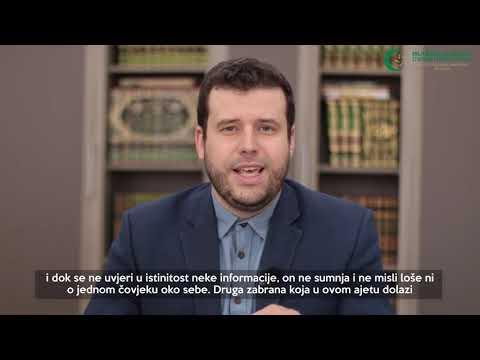 Poziv vjernicima (25) - Zabrana ružnog mišljenja - hafiz Ammar Bašić