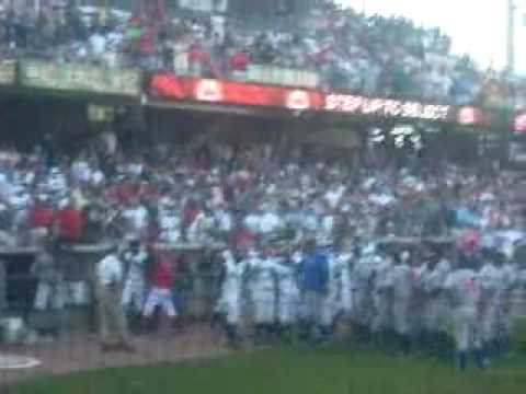 Huge Baseball Fight Pitcher Throws Ball into Crowd