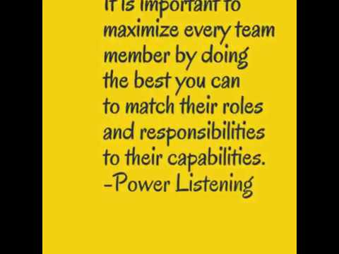 Quotes from the book Power listening.