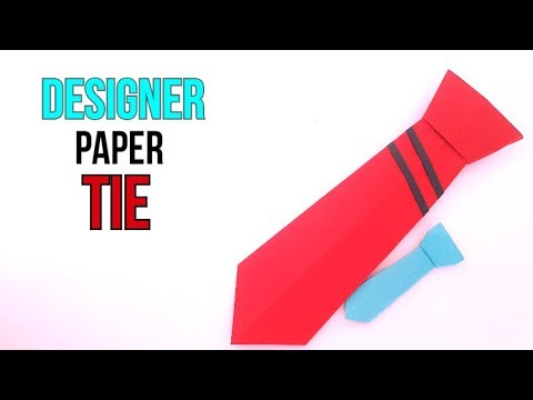how to make an easy origami paper tie