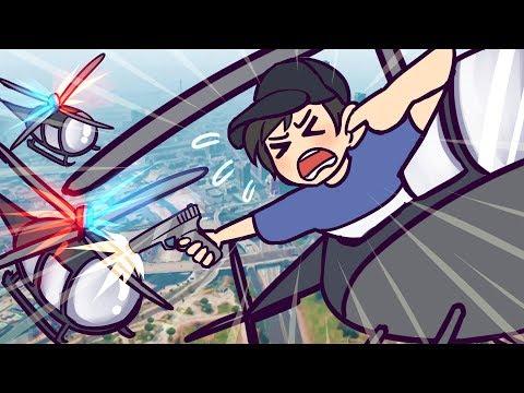 Helicopter VS Pistol | GTA 5 | GTA 5 Online Funny Moments