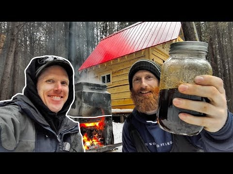 BUILDING a Maple Syrup WOOD EVAPORATOR at the Cabin! | CANADIAN HOSERS Edition Ep6