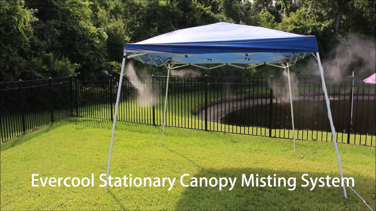 evercool stationary canopy misting system youtube
