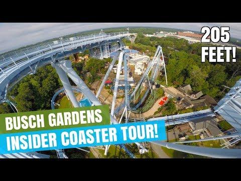 Busch Gardens Williamsburg Insider Roller Coaster Tour on National Roller Coaster Day 2017!