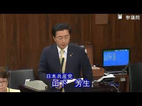 山下芳生 日本共産党 文教科学委員会 参議院 2019 05 21
