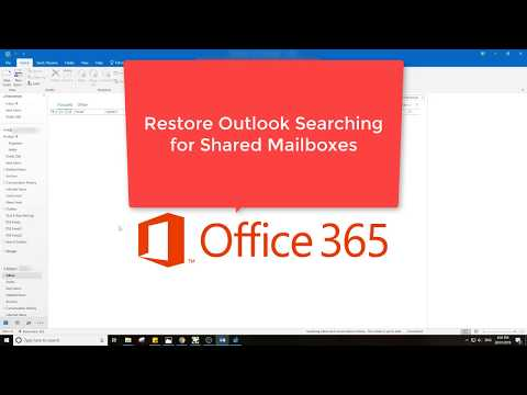 Enable Outlook Office 365 Shared Mailbox Searching - Cached
