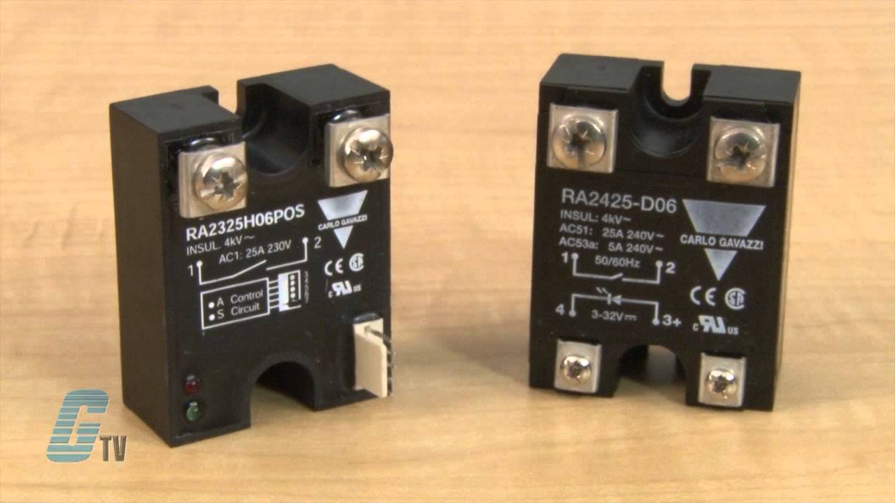 Carlo Gavazzi RA Series Solid State Relays A GalcoTV Overview - Solid State Relay Brands