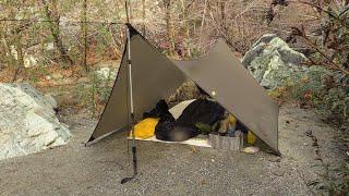 tarp shelter rainy weekend