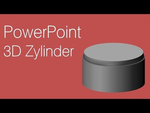 PowerPoint – 3D Zylinder erstellen
