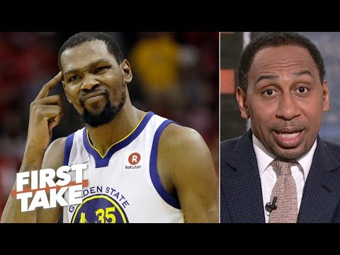 Kevin Durant outranks James Harden as the NBA's most unstoppable player – Stephen A. | First Take thumbnail