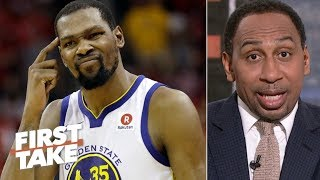 Kevin Durant outranks James Harden as the NBA's most unstoppable player - Stephen A. | First Take
