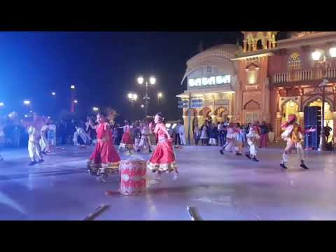 Indians Traditional dance at Dubai River land Bollywood park