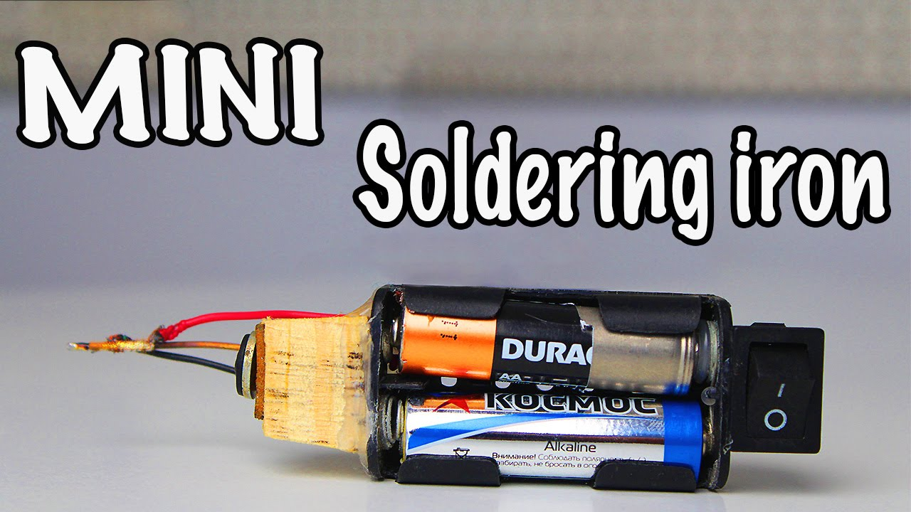 How to make a mini battery powered soldering iron youtube solutioingenieria