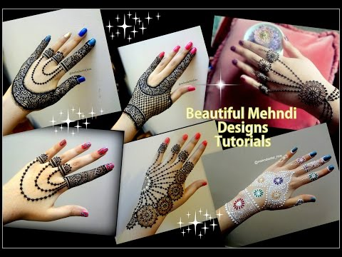DIWALI special Mehndi Designs II Beautiful jewellery style henna designs Tutorial for DIwali and Eid
