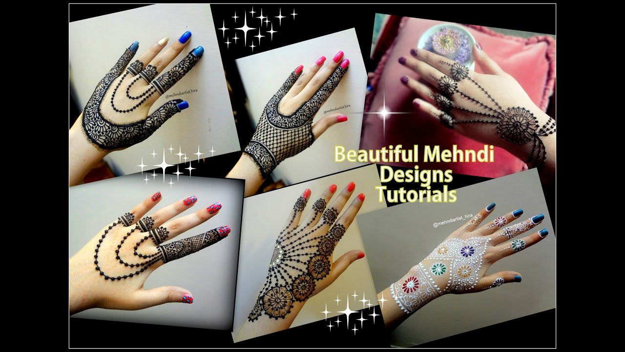 How to apply easy simple jewellery inspired Mehndi Designs for ...