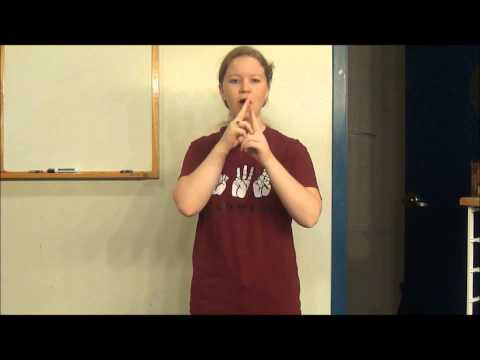 American Heritage Girls Oath in Sign Language