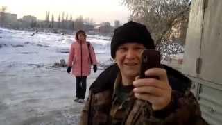 Отстрел собак в центре города Омска (02.11.2015)