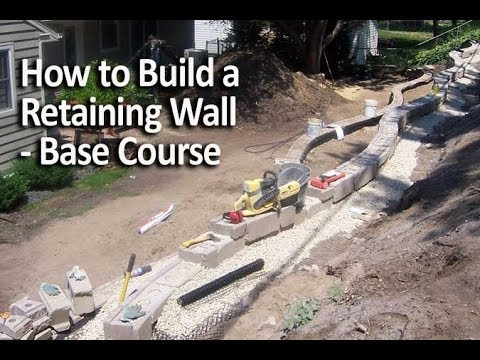How to Install a Retaining Wall Base Course