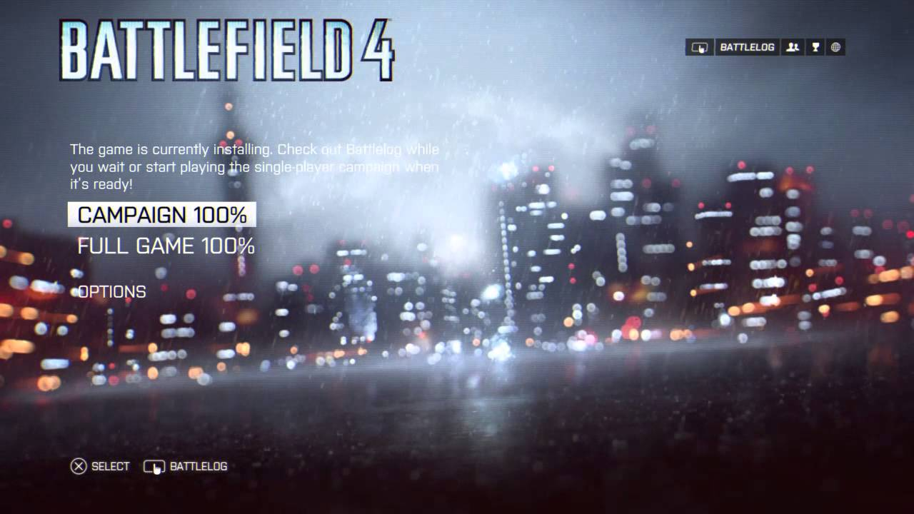 Full game install battlefield 4 ps4