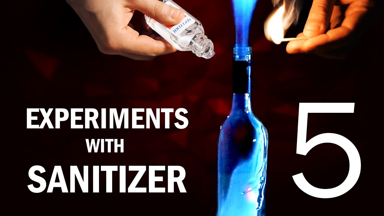 5 Amazing Experiments with Hand Sanitizer - Easy Science Experiments with Sanitizer