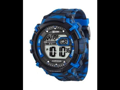 220ff14e14c Relógio X-Games XMPPD287 BXAP Azul Camuflado - YouTube