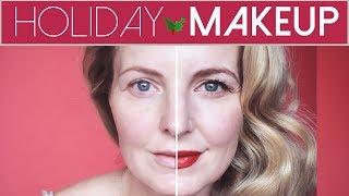 Simple Holiday Party Makeup Look