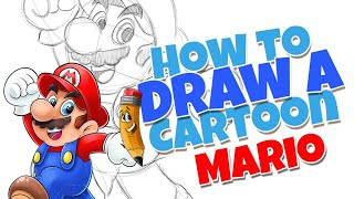 How to draw a Cartoon Mario Brother | step by step