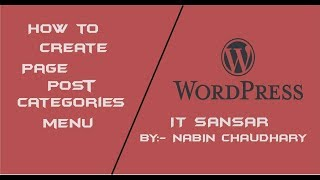 How to create Page, Post, categories, menu on WordPress .