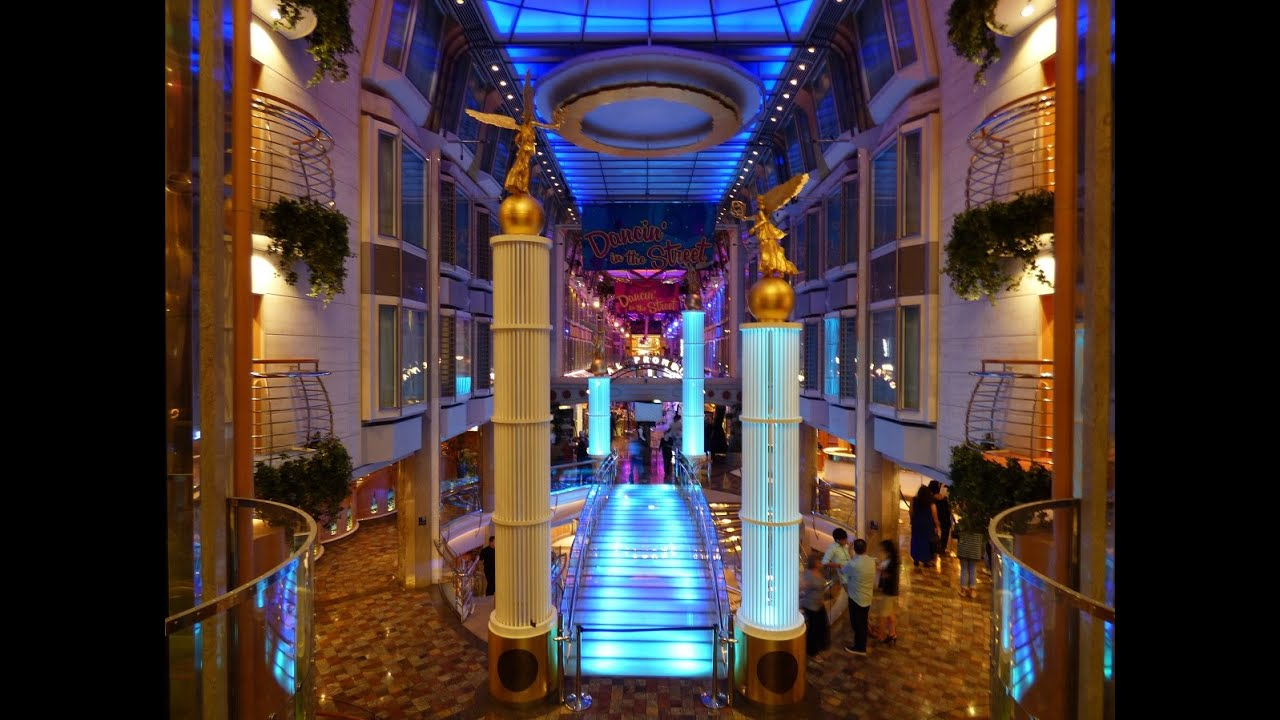Freedom Of The Seas Royal Promenade Deck 5 Tour 2015 Youtube
