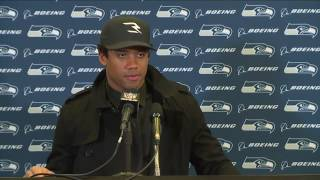Seahawks Quarterback Russell Wilson at Falcons Postgame Press Conference