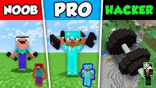 Minecraft NOOB vs PRO vs HACKER : BABY STRENGTH CHALLENGE in Minecraft Animation!