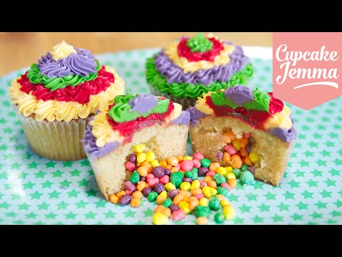 Download How to make Pinata Cupcakes | Cupcake Jemma Pictures