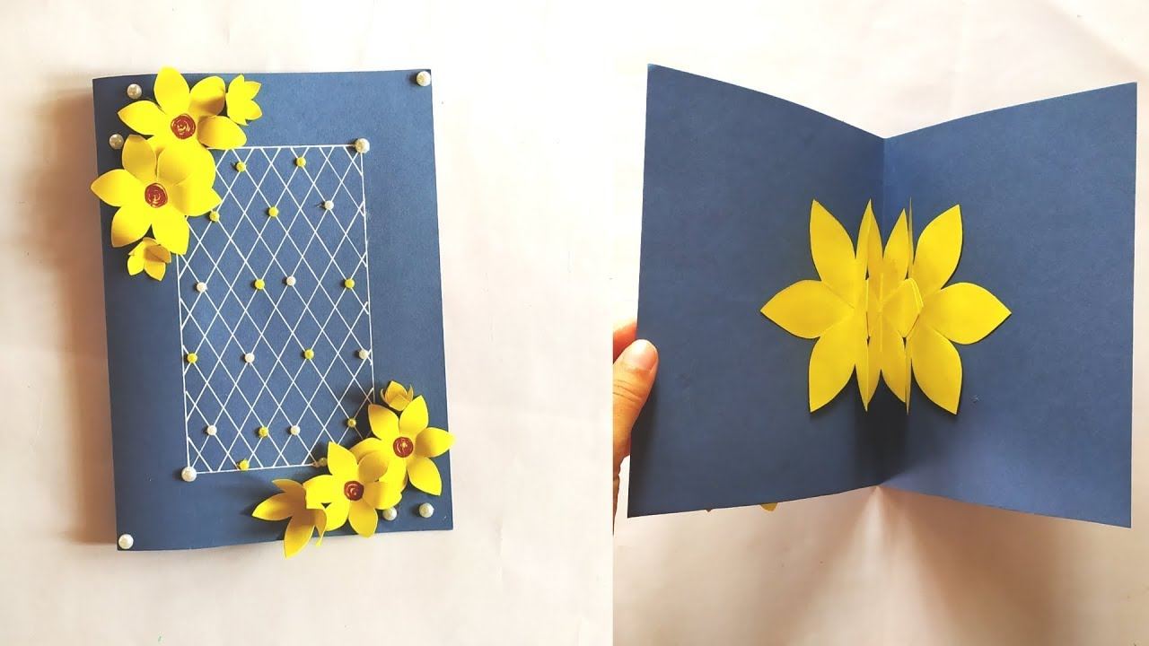 Yellow Flowers Handmade Greeting Card feat