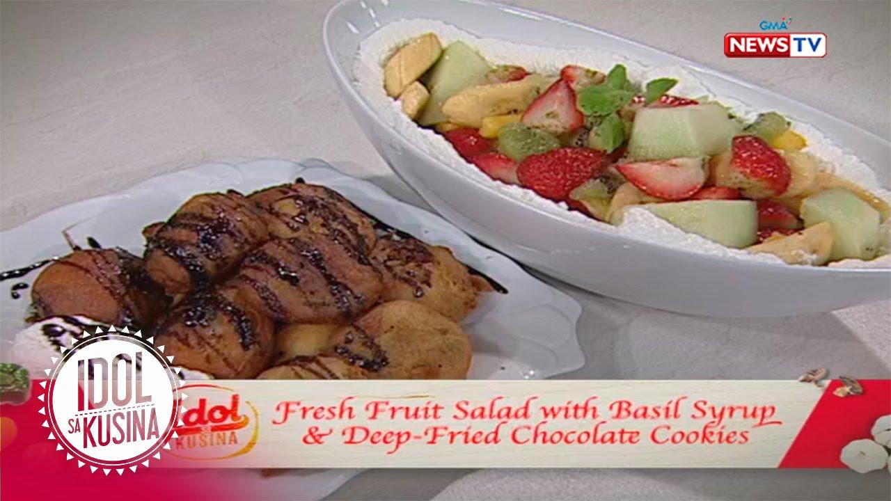 Idol sa Kusina recipe: Pan fried chocolate cookies with fresh fruit salad