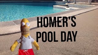 Homer and chef pee pee episode 4: Homer's pool day