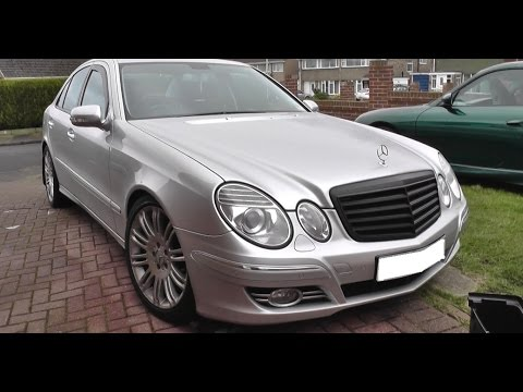 w211 black grill install remove guide mercedes e class youtube rh youtube com Mercedes W220 Rear Diffuser Mercedes W201