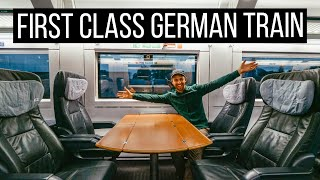 FIRST CLASS Solo Trąin Trip Across Germany! | First Time Riding a German Train!