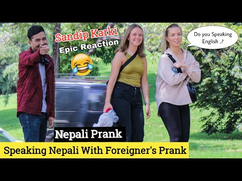 Speaking Nepali With Foreigner Prank | Nepali Prank -Epic Reaction | Sandip Karki