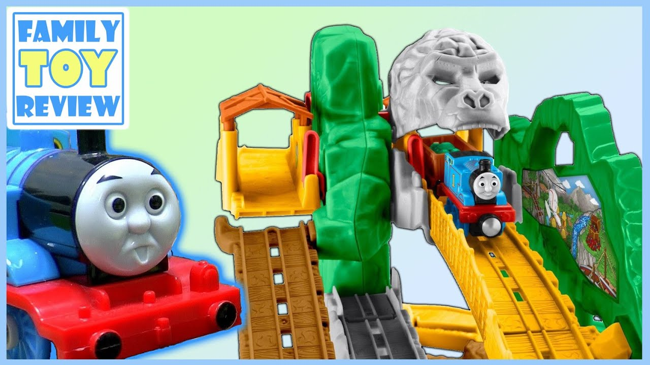 Thomas  & Friends Jungle Quest - Take N Play Thomas the tank Engine Unboxing by FamilyToyReview