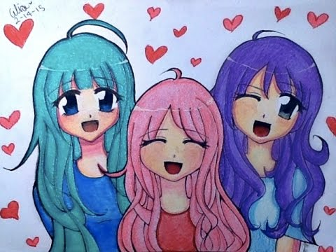 Valentine S Day Special Manga Anime Speed Drawing Youtube